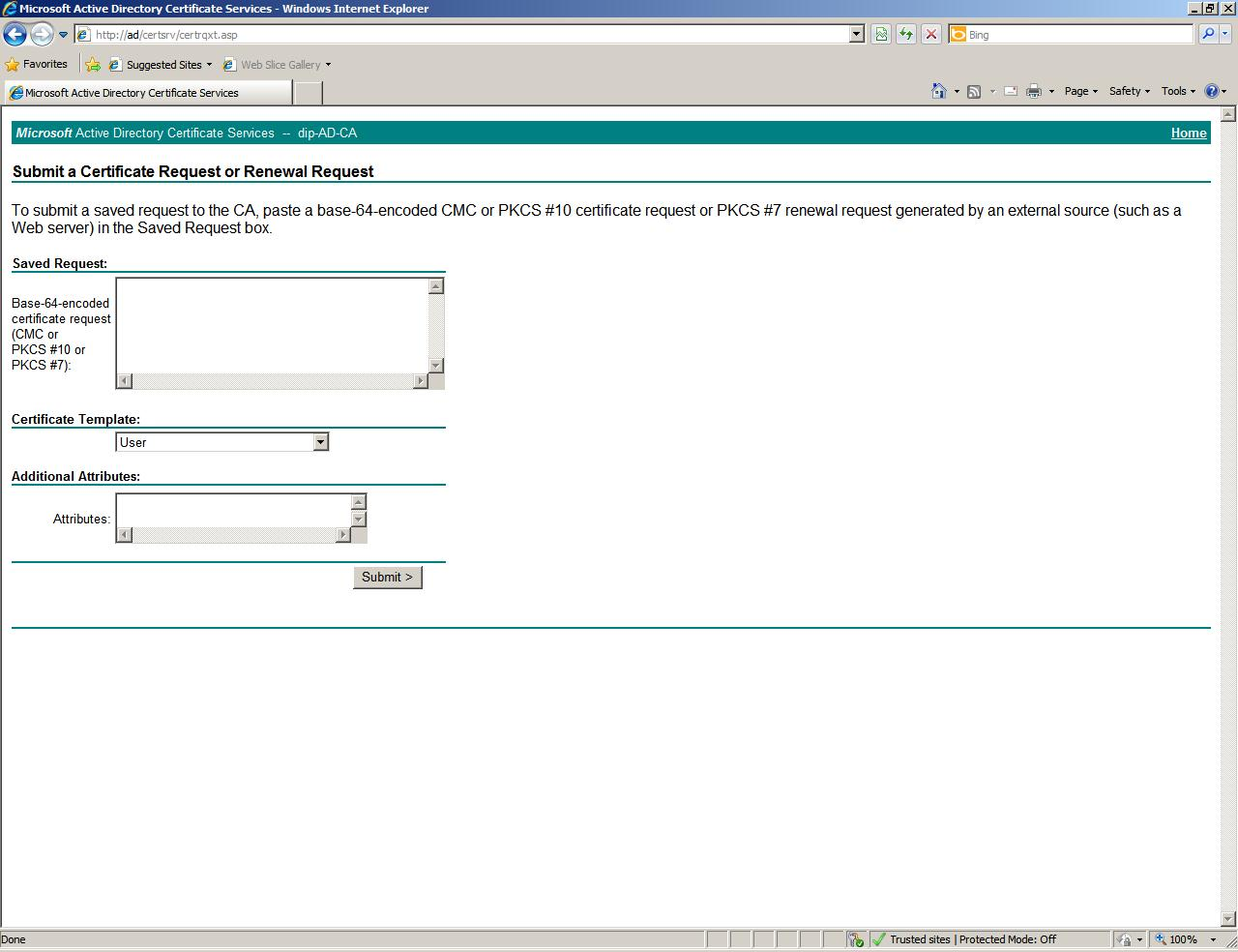 Web server certificate template choice image templates example in exchange 2010 now have san certificate creation facility for after creating cer file and copy yelopaper Image collections