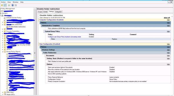 Azure folder redirection-policy-1