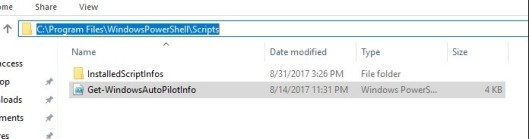 Autopilot Powershell script for getting Hardware ID